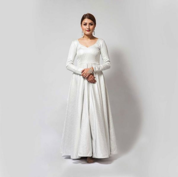 White long gown front