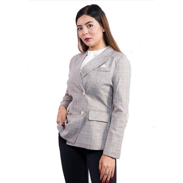 Double Breasted Peaked Blazer clothing fashionktm
